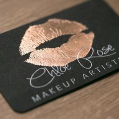 Rose gold & white foil on black  business card design by @mycreativespaceau #rosegoldfoil