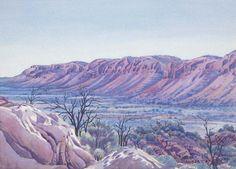 Tent Valley, James Ranges, Central Australia, Northern Territory - Albert Namatjira 1902 - 1959 - Google Search