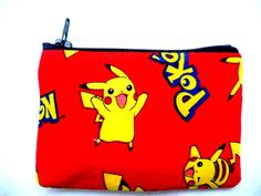 coin purse made with Pokemon fabric by schoolhousestitching