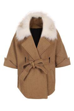 Romwe.com Detachable Magyar Camel Cape(Coming Soon)  $190.99 #Romwe