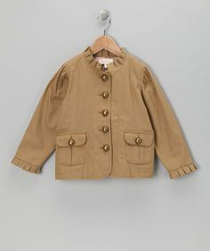 Take a look at this Tan & Pink Blazer - Toddler & Girls by Trish Scully Child on #zulily today!