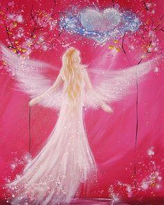 Limited angel art photo cosmic love modern angel by HenriettesART
