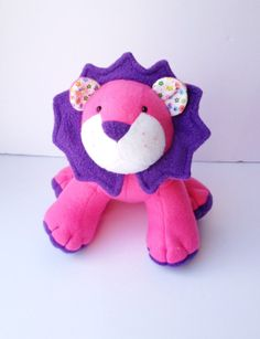 Plush Lion  Petunia by LittleLuckies2 on Etsy, $45.00