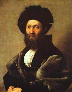Raphael Sanzio -Portrait of Baldassare Castiglione, c.1514-1516