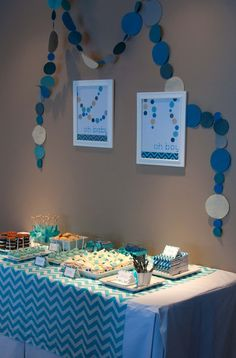 Aesthetic Nest: Party: Chevron-Dot Baby Shower (Printables)