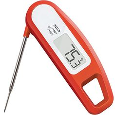 Lavatools Javelin Digital Ultra Fast Instant Read Meat Thermometer for Kitchen, Outdoor Grilling, BBQ, Brewing, and Frying (Chipotle) Tools And Equipment, Chipotle, Lava, Kitchen Essentials List, Parmesan Crusted Chicken, Cooking Temperatures, Best Meat, Digital Thermometer, Bbq Thermometer