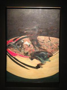 "Francis BACON, ""Landscape near Malabata, Tangier"" (1963), exhibition ""Bacon, Monaco & The French Culture"", Forum Grimaldi, Monaco, French Riviera & Provence, France by www.yourguideboba.com"