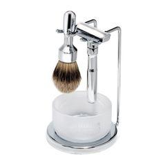 Ensemble de rasage Futur de Merkur, 4 items, fini chrome Shaving Set, Polish, Man Style, Products, Future Tense, Vitreous Enamel, Varnishes, Style Men, Nail Polish