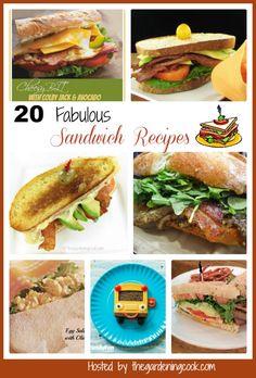 20 Fabulous Sandwich Recipes - http://thegardeningcook.com/making-a-great-sandwich/#sandwichrecipes
