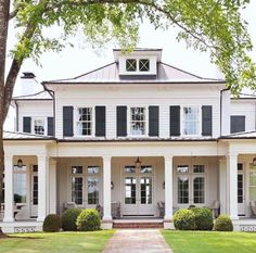 : Trendy Farmhouse Exterior Home Design Ideas KATYDIDANDKID Dark Gray Outside Home Shade with White Trim … The combination of blue and also white exterior co cutehomedecor design exterior farmhouse home homedecorhabitacion homedecorwhite ideas k Exterior Colors, Exterior Design, Gray Exterior, Brick Design, Architecture Design, Classical Architecture, Residential Architecture, Building A Porch, House Building