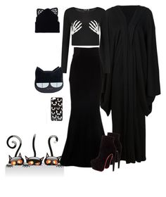 """Crazy Cat Lady Costume"" by cody-k ❤ liked on Polyvore featuring Yohji Yamamoto, Alexandre Vauthier, Christian Louboutin, ASOS and Silver Spoon Attire"