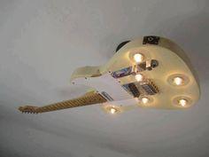 Guitarra lámpara