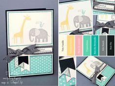 """Stampin'Up! - Carte d'Anniversaire Enfant """"Set Zoo Babies"""""""