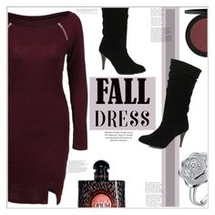 """Fall Dress"" by mycherryblossom ❤ liked on Polyvore featuring Yves Saint Laurent"