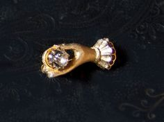 Vintage Art Deco Goldtone Brooch / Pin of a by mistyalbion on Etsy, £25.00