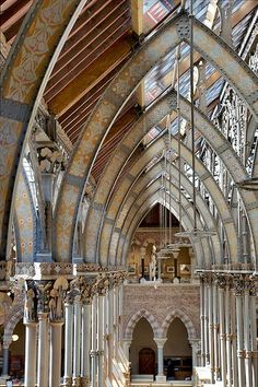 Underneath the arches, Natural History Museum, Oxford University, England