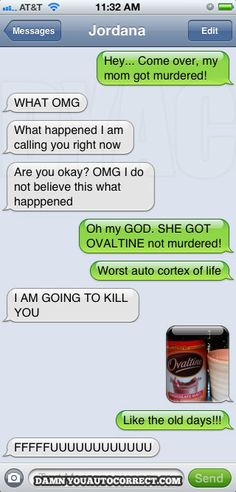 I don't have an iPhone, but I do love the autocorrect fails.