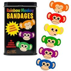 Rainbow Monkey Band-aids | Top 10 Stocking Stuffer Ideas for Kids