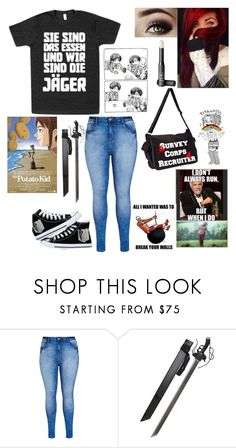 """""""New obsession:Attack on Titan"""" by potato-swan77 ❤ liked on Polyvore featuring Humör, City Chic and NARS Cosmetics"""