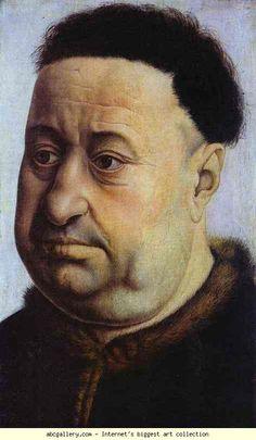 Robert Campin. Portrait of Robert de Masmines. c.1425. Oil on wood. Thyssen-Bornemisza Collection, Lugano-Castagnola, Switzerland
