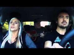 Śpiewanie w samochodzie zajebistej piosenki ;D (Me and my broken heart)