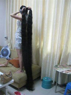 Liu Chun shew her meters long hair ,,photo,China Long Hair Really Long Hair, Super Long Hair, Worlds Longest Hair, Long Silky Hair, Thick Hair, Rapunzel Hair, Natural Hair Styles, Long Hair Styles, Long Braids