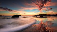 sea beach evening wallpaper sunrise, sunset full free high definition