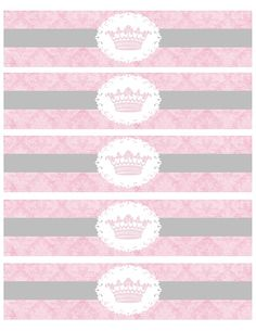 FREE Printable Princess Water Bottle Labels www.facebook.com/dancingfrogdesigns