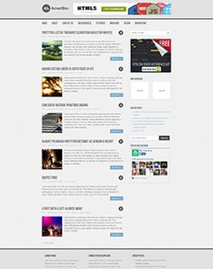 AccentBox is an awesome responsive free WordPress theme from MyThemeShop developer club. This theme is well coded and optimized for fast loading best Brochure Design Inspiration, Ui Inspiration, Top Free Wordpress Themes, Cool Themes, Time Quotes, User Interface, Website Template, Templates, Stencils