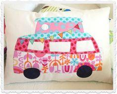 Camper Van Applique Cushion Pattern by braidcraft on Etsy