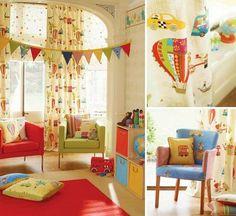 VINTAGE & CHIC: decoración vintage para tu casa [] vintage home decor: Papeles y textiles coordinados para niños [] Coordinate fabric & wallpaper for kids