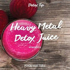 Heavy metals like mercury, cadmium, lead, uranium & aluminum may enter the human body through food, water, air, or by absorption through the skin. These toxins contribute to serious health problems in the human body. Cleansing juices like this one can naturally help the body detox itself of these toxic metals while helping to strengthen the liver! - 2 small beets  - 4 cups chopped kale - 2 cups chopped celery - 1 medium cucumber - 1/2 lime - 1 bunch parsley - 1 bunch cilantro - 2 inches…