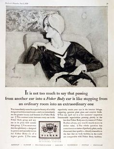 These Fortunate People Vintage Print Ad 1934 Body by Fisher