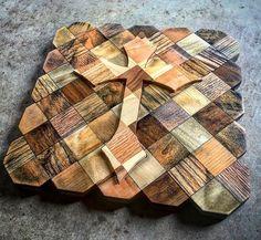 Decorative wood cross I made. Light vs dark...