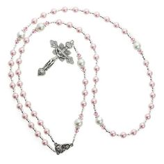 Crystal Dream Luxury Swarovski Pearl Rosary Infant Necklace