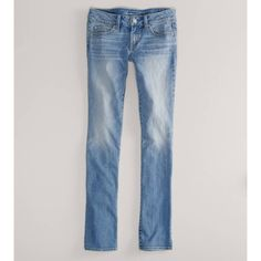 American Eagle Outfitters Straight Jean ($30) ❤ liked on Polyvore
