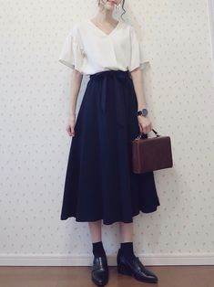 Korean Fashion – How to Dress up Korean Style – Designer Fashion Tips Korean Fashion Trends, Asian Fashion, Latest Fashion For Women, Womens Fashion, Modest Fashion, Girl Fashion, Fashion Outfits, Fashion Design, Long Skirt Fashion