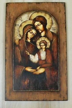 Distortion Art, Holy Family, Christian Art, Madonna, Catholic, Decoupage, Spirituality, Faith, Angels