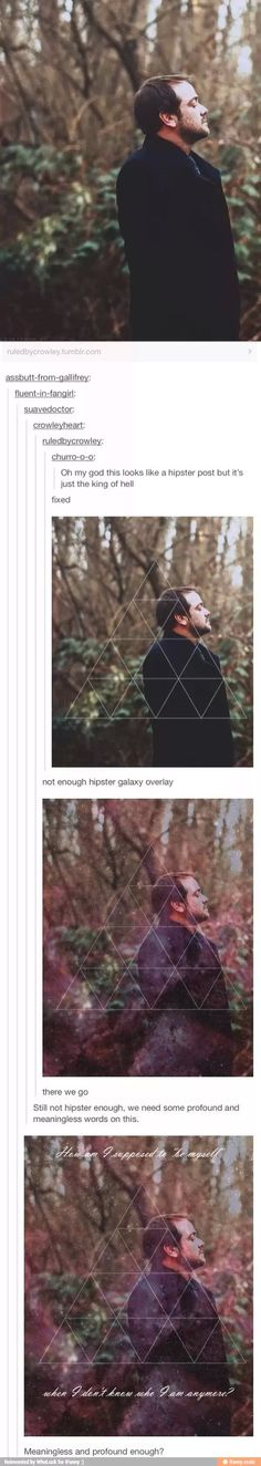 "Tumblr? Tumblr. ""Mr. Crowley what is thi-"" ""YOU CLOSE THAT YOU USELESS GIMP!!! THOSE ARE IMPORTANT EDITS I HAVE BEEN MADE!!!!"""