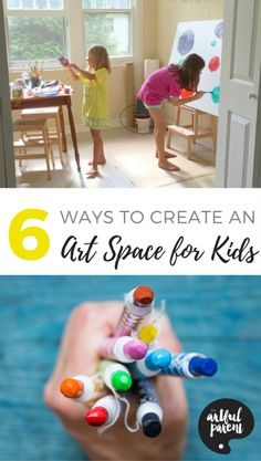 Art spaces for kids are important if you want to encourage art activities and foster creativity. Here are 6 ways to set up art spaces for children at home.