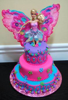 My daughter's Barbie Fairy Princess birthday cake. She loved it! #FairyCakes,Yummy!