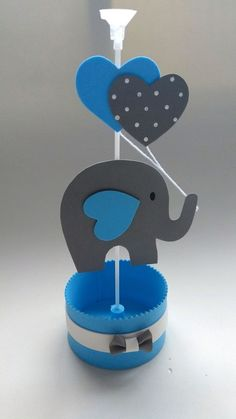 Baby Shower Deco, Shower Bebe, Baby Shower Favors, Baby Boy Shower, Moldes Para Baby Shower, Mesas Para Baby Shower, Elephant Baby Showers, Baby Elephant, Easy Christmas Ornaments