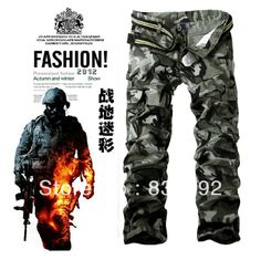 Top quality,2013 New casual Men's Military Army Cargo pants camouflage tactical pants 100% cotton loose trousers for Man $33.89
