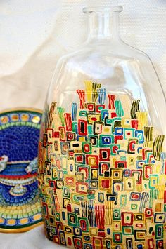 Golden City Hand Painted Vase by Magical Space