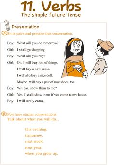 Grade 3 Grammar Lesson 11 Verbs – the simple future tense