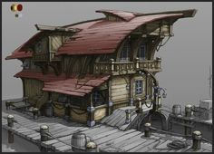 http://polycount.com/discussion/97098/dock-house-hand-painted