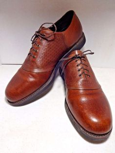 HS TRASK Mens Shoes 13 Bronc Saddle Brown Closed Lacing Oxford Buffalo Leather  #HSTrask #Oxfords #Formal See my other Ebay items  http://stores.ebay.com/heyitspatti
