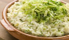 Colcannon Traditional Irish Dish with a twist! Use soy milk instead of cream or milk!