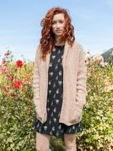 Astilbe is a classic, Aran-inspired cardigan with subtle, wear-every-day textures.