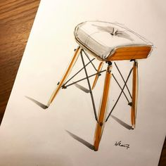 Lounge stool. Let's do this @hermanmiller #stool #eames #eameschair #eameschairs #eamesloungechair #design #sketch #sketches #sketching #sketchaday #sketchbook #idsketching #copic #copicmarkers #furniture #furnituredesign #doodle #doodles #draw #drawing #pencilsketch #pencildrawing #pencil
